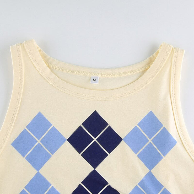 Argyle Tank Crop - Own Saviour - Free worldwide shipping