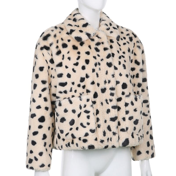 Thick Leopard Faux Fur Jacket - Own Saviour - Free worldwide shipping