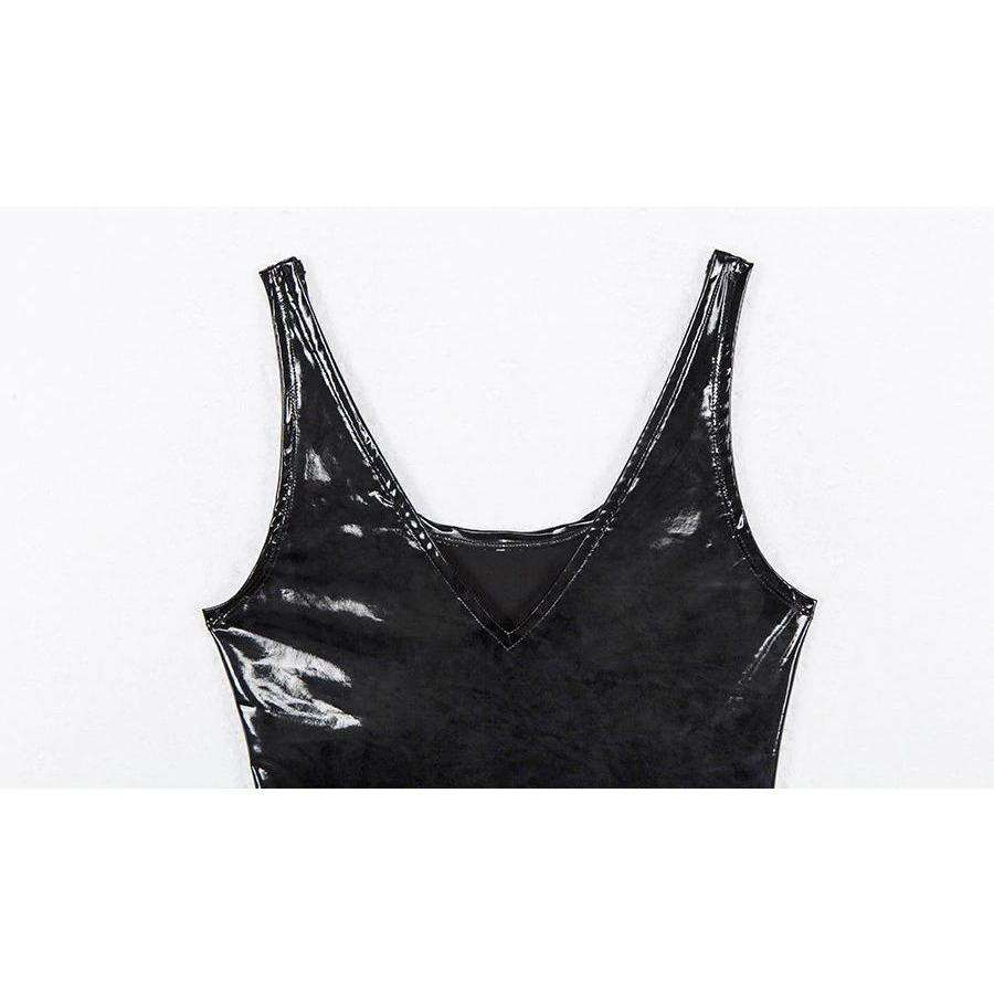 Faux Leather Bodysuit - Own Saviour - Free worldwide shipping