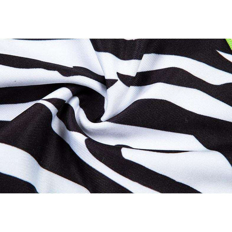 Neon Zebra Triangle Bikini - Own Saviour - Free worldwide shipping