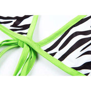Neon Zebra Triangle Bikini - Own Saviour