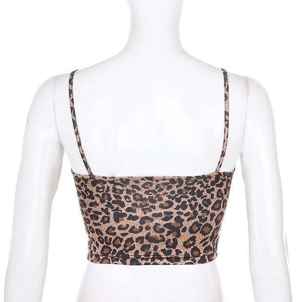 Leopard Bow Cami Crop - Own Saviour - Free worldwide shipping