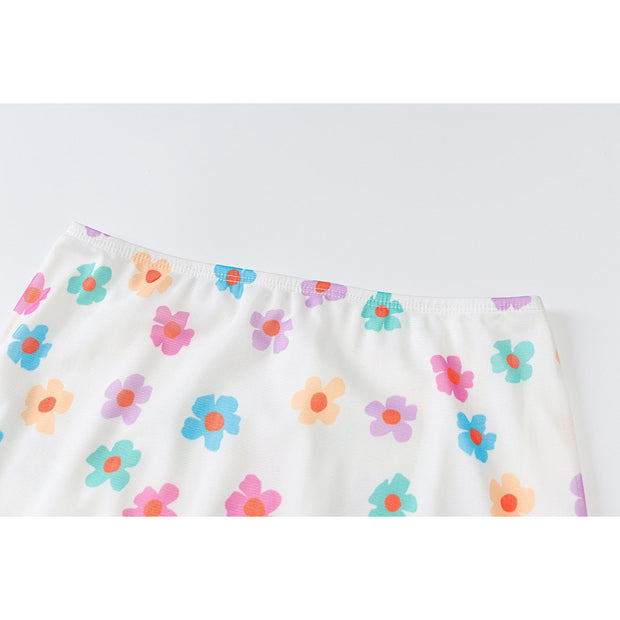White Floral Mini Skirt - Own Saviour