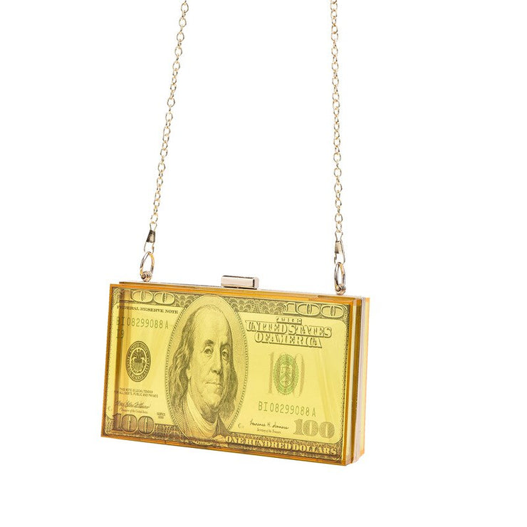 Transparent Dollar Clutch/Shoulder Bag - Own Saviour