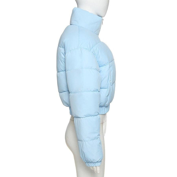 Baby Blue Puffer Jacket - Own Saviour