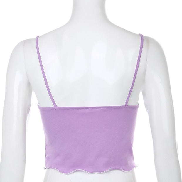 Cow Frill Cami Crop - Own Saviour - Free worldwide shipping