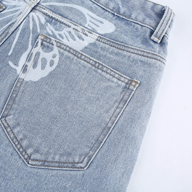 Butterfly Bottom Jeans - Own Saviour - Free worldwide shipping