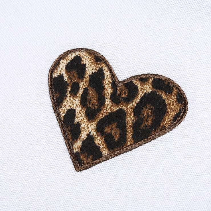 Colour Leopard Heart Raglan Cro - Own Saviour