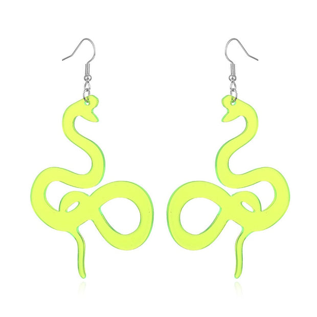 Neon Snake Dangle Earrings - Own Saviour - Free worldwide shipping