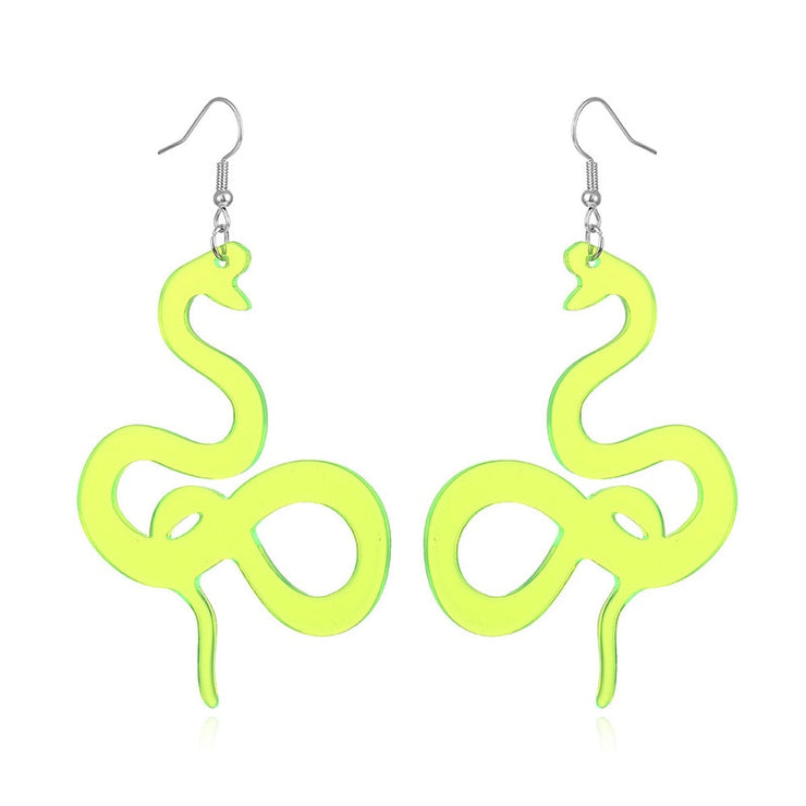 Neon Snake Dangle Earrings - Own Saviour