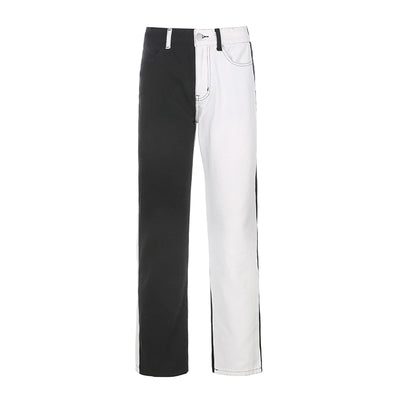 Black/White Splice Jeans - Own Saviour
