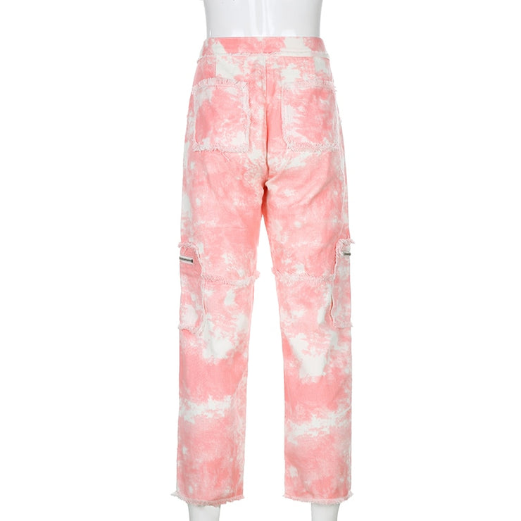 Tie Dye Zip Pants - Own Saviour - Free worldwide shipping