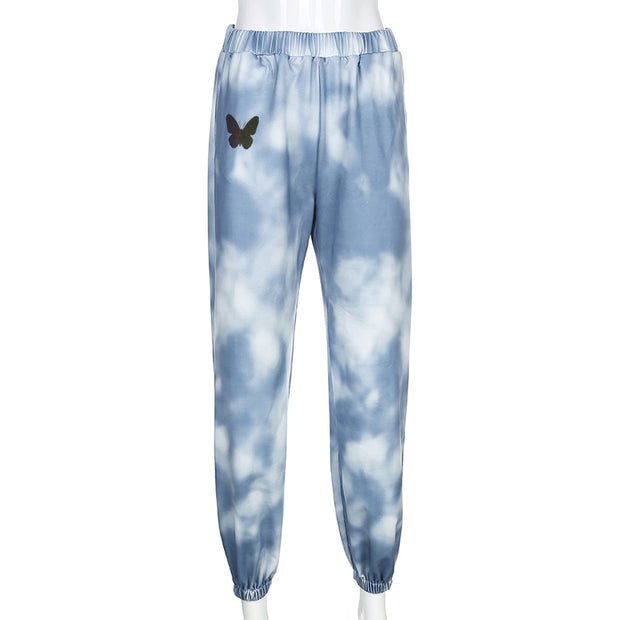 Tie Dye Butterfly Joggers - Own Saviour - Free worldwide shipping