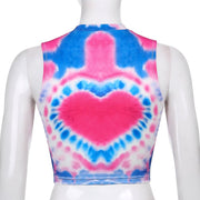 Tie Dye Heart Tank Crop - Own Saviour