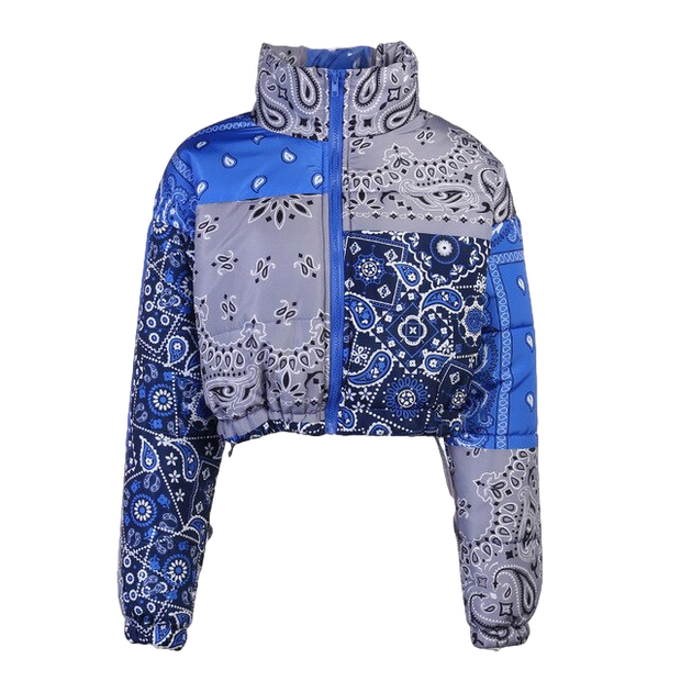 Paisley Bandana Puffer Jacket - Own Saviour