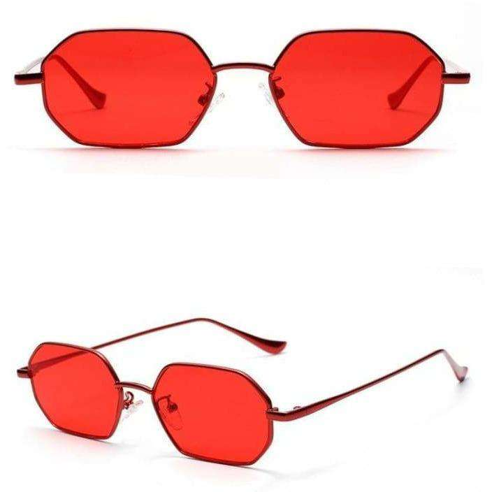 Evie Coloured Heptagonal Shades - Own Saviour