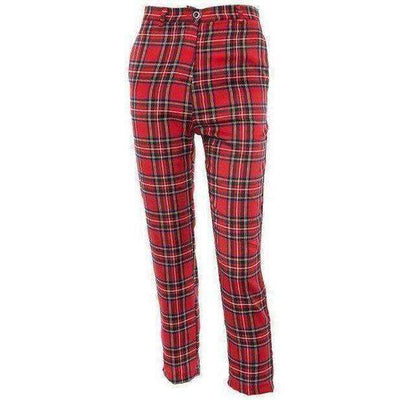 Fergie Red Plaid Slim Pants - Own Saviour - Free worldwide shipping