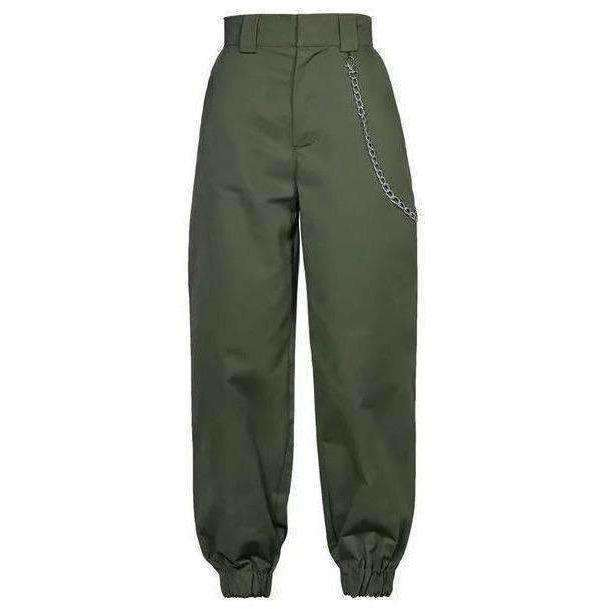 Green/Camo Forest Chain Pants-Own Saviour