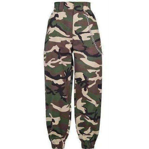 Green/Camo Forest Chain Pants - Own Saviour