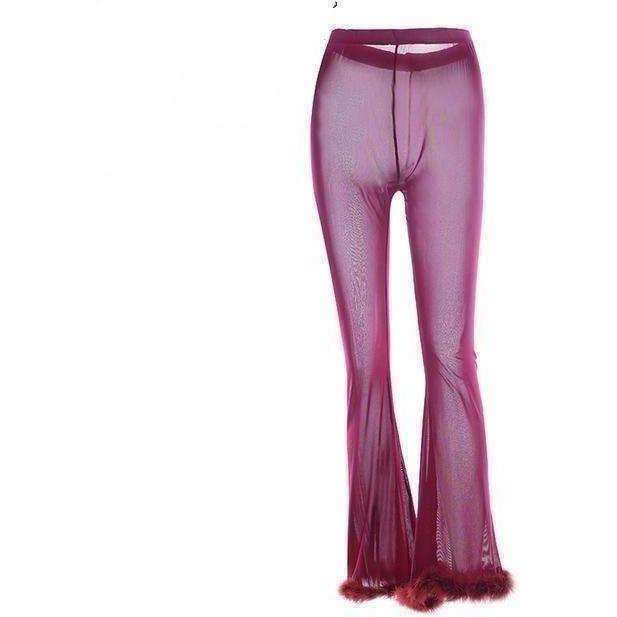 Havana Fur Trim Pants-Own Saviour