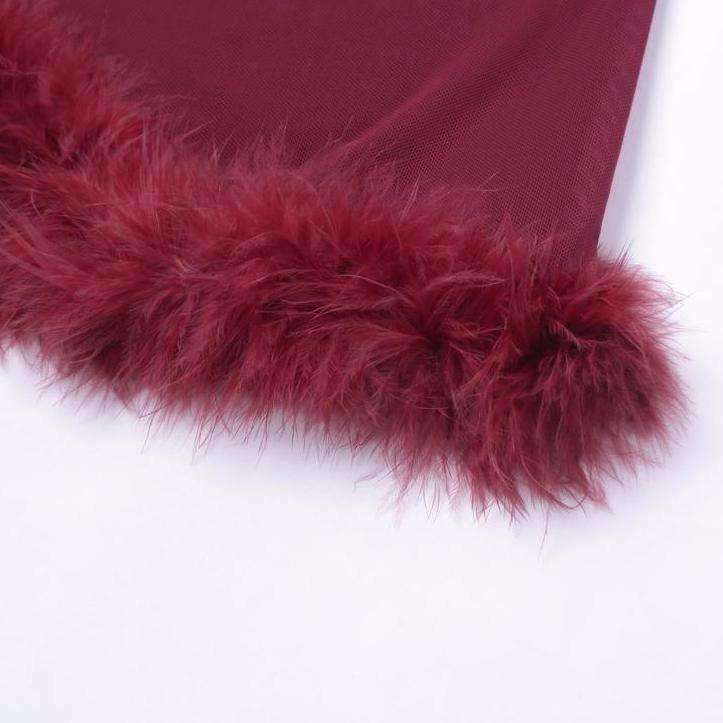 Havana Fur Trim Pants - Own Saviour - Free worldwide shipping