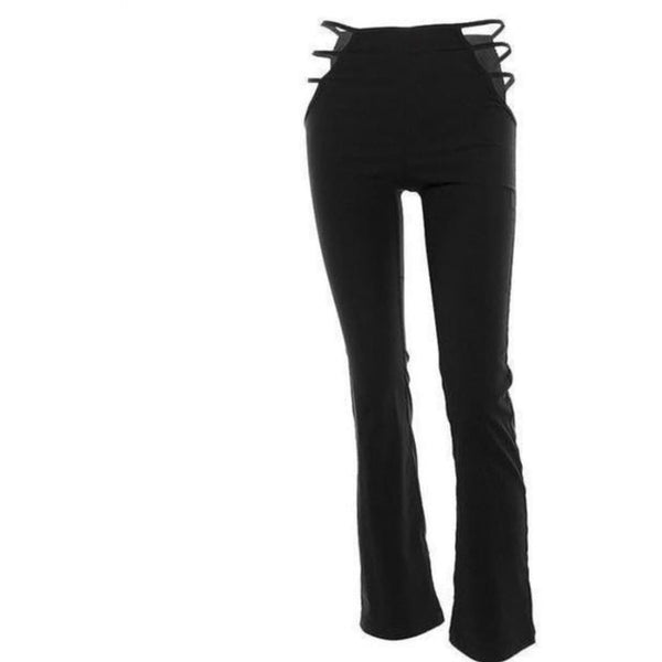 Hip Cut Out Flare Pants-Own Saviour