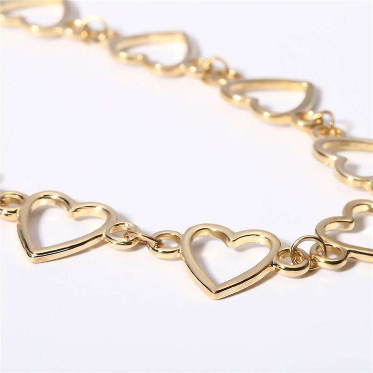 Joined Heart Choker Necklace - Own Saviour