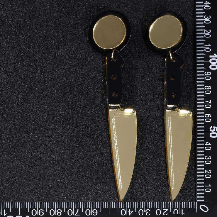 Knife Drop Earrings-Own Saviour
