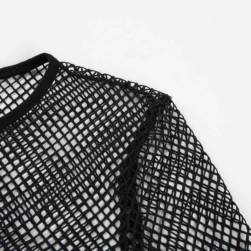 Long Sleeve Mesh Crop-Own Saviour