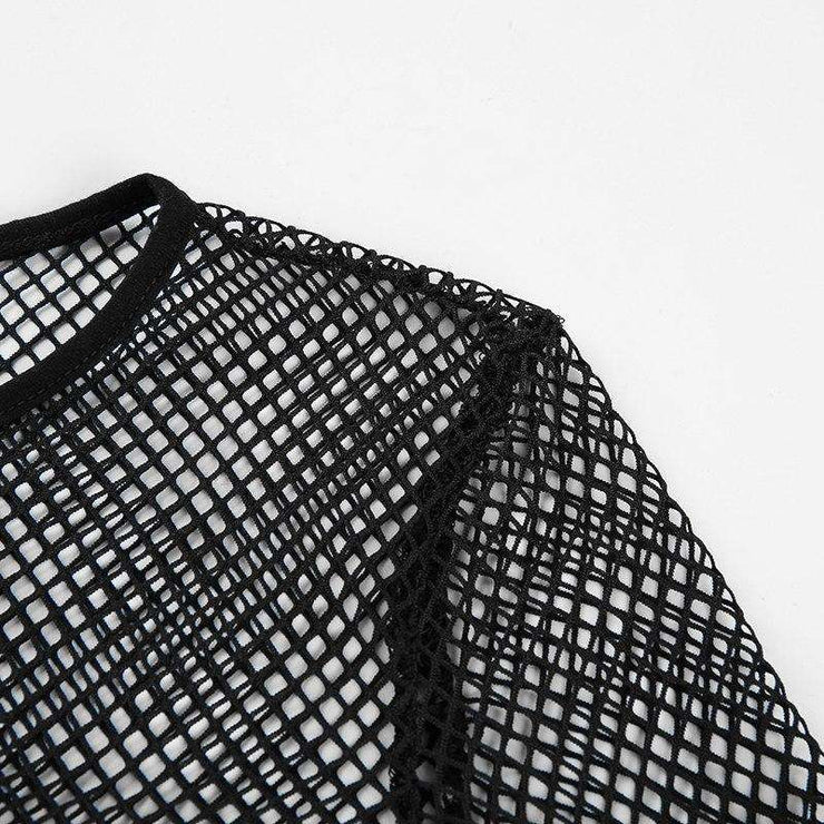 Long Sleeve Mesh Crop - Own Saviour