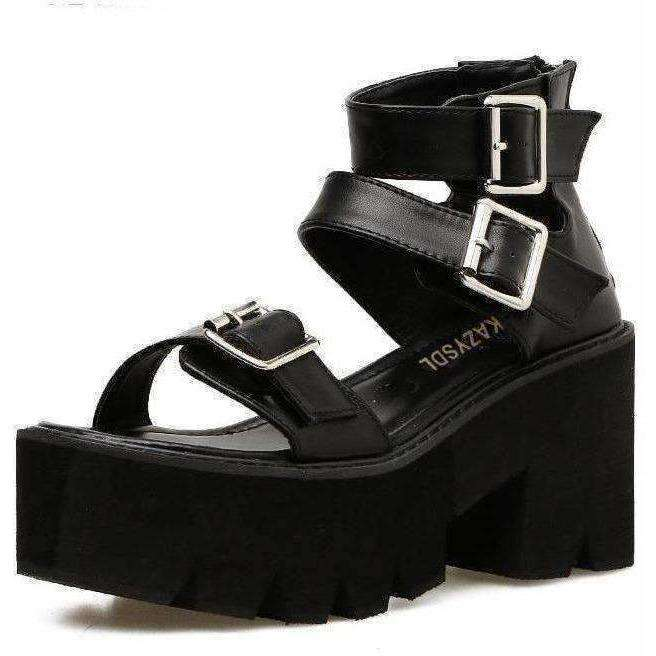 31216529f Power Gladiator Platform Sandals – Own Saviour