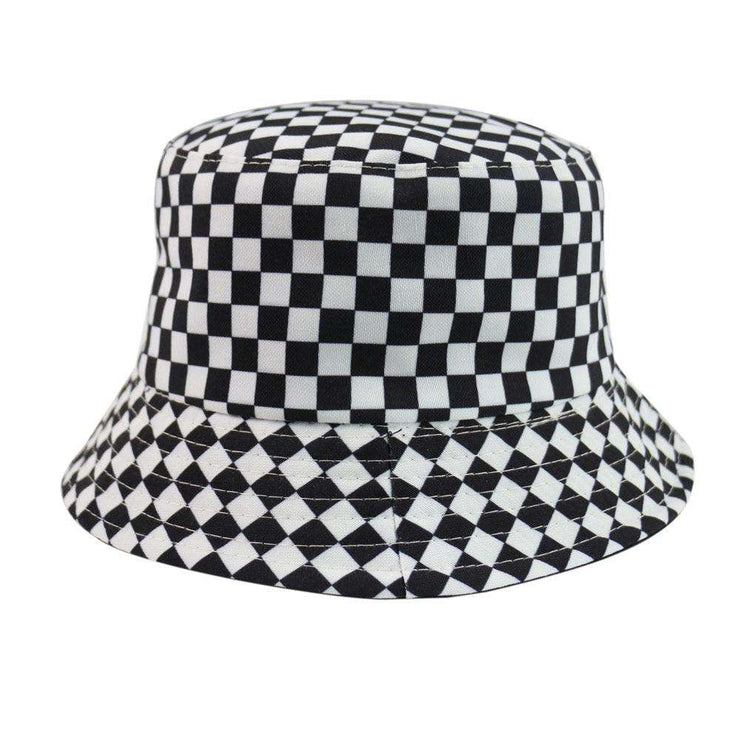 Checkerboard Bucket Hat - Own Saviour - Free worldwide shipping