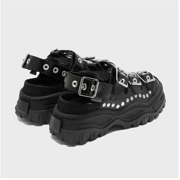 Rivet Buckle Platform Sandals - Own Saviour - Free worldwide shipping