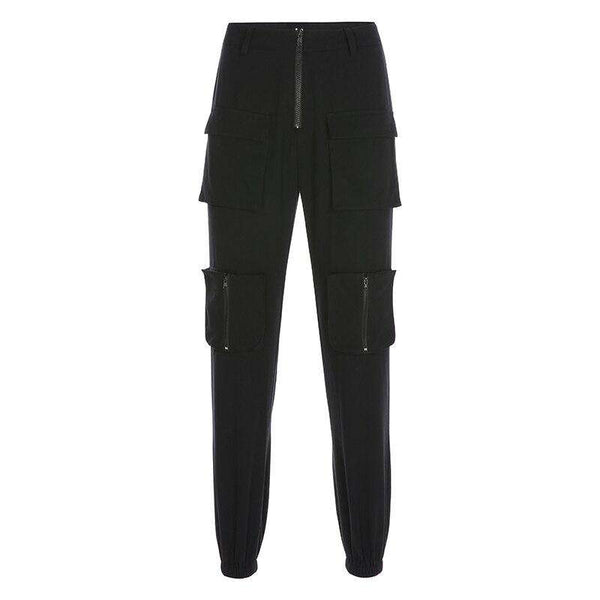Black Zip Cargo Pants - Own Saviour - Free worldwide shipping