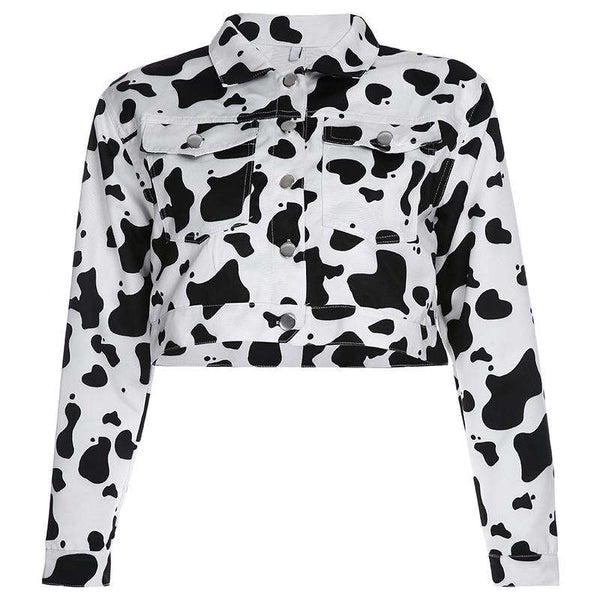 Cropped Cow Jacket