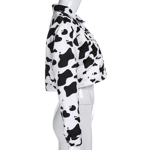Cropped Cow Jacket - Own Saviour - Free worldwide shipping