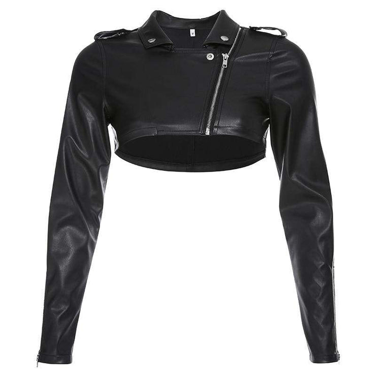 Crop Biker Jacket - Own Saviour - Free worldwide shipping
