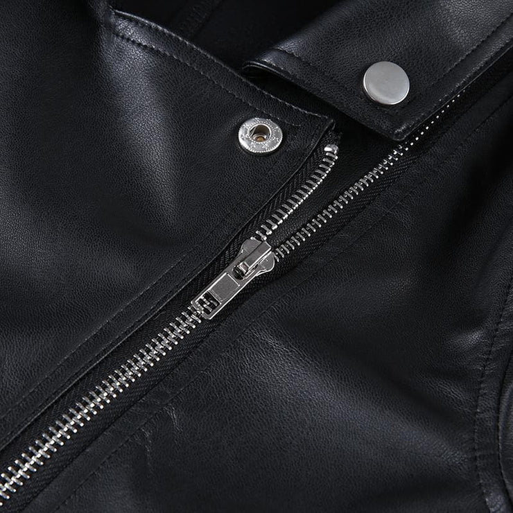 Crop Biker Jacket - Own Saviour