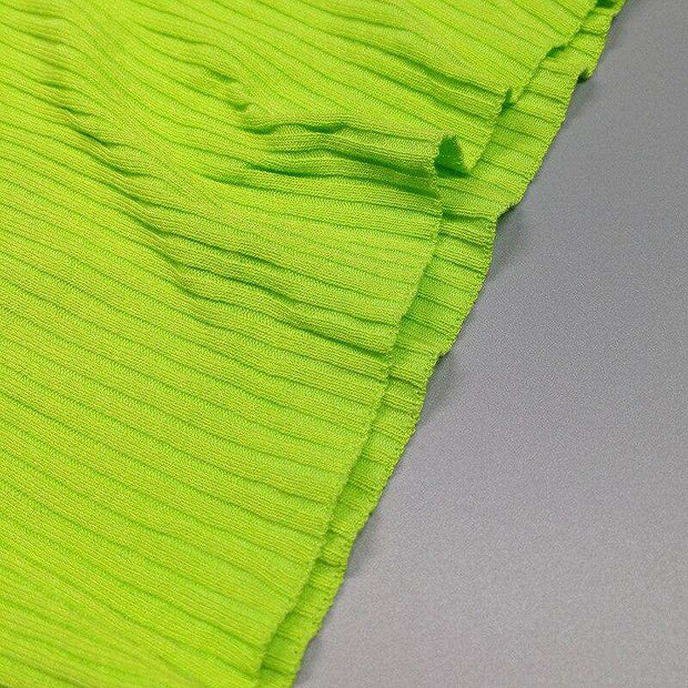 Ribbed Neon Turtleneck