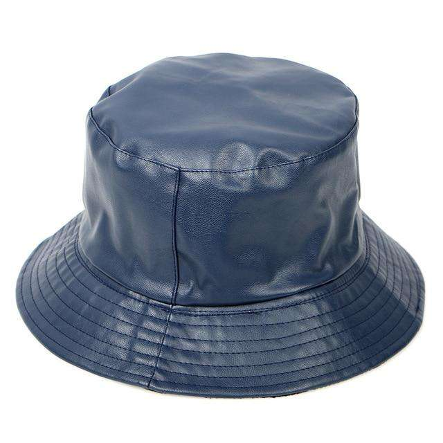 Faux Leather Bucket Hat - Own Saviour