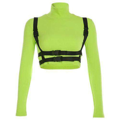 Neon Buckle Turtleneck