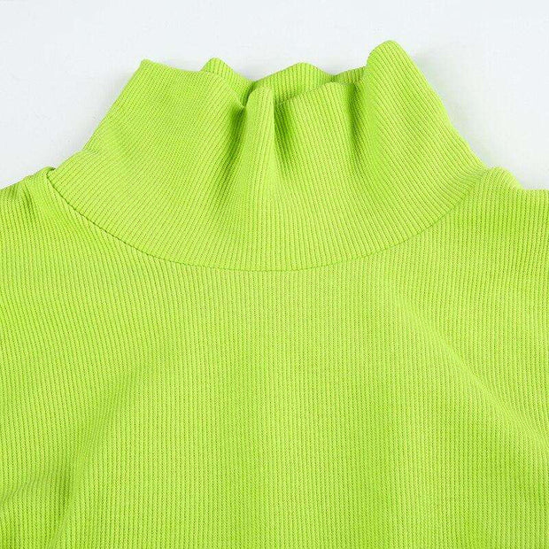 Neon Buckle Turtleneck - Own Saviour - Free worldwide shipping