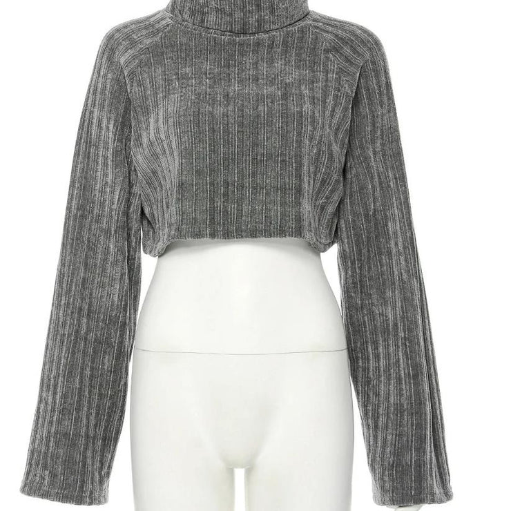 Turtleneck Crop Sweater - Own Saviour