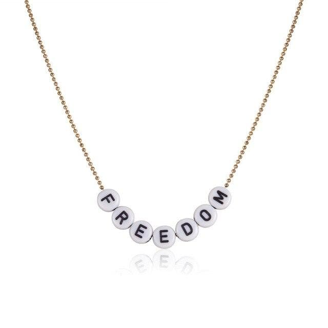 Letter Bead Necklace - Own Saviour