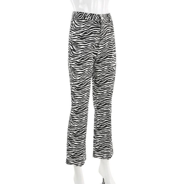 Zebra Flared Pants - Own Saviour - Free worldwide shipping