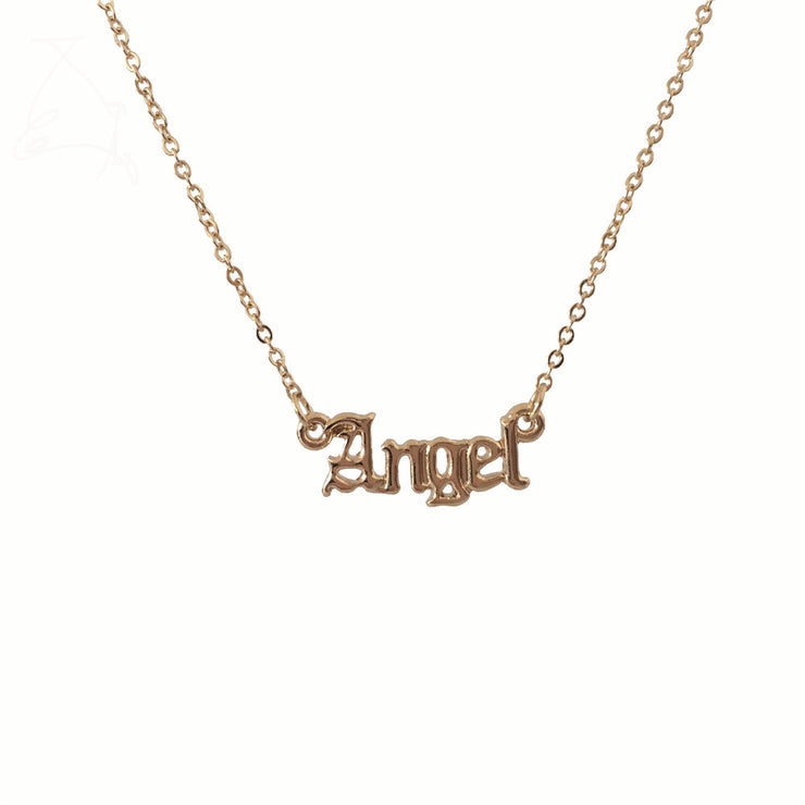 Angel Slogan Necklace - Own Saviour - Free worldwide shipping