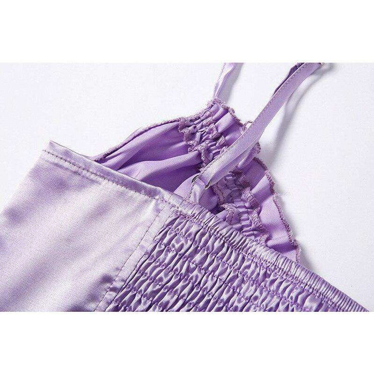 Purple Ruched Crop - Own Saviour - Free worldwide shipping
