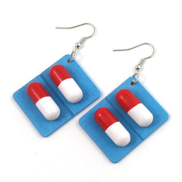Pill Capsule Earrings - Own Saviour