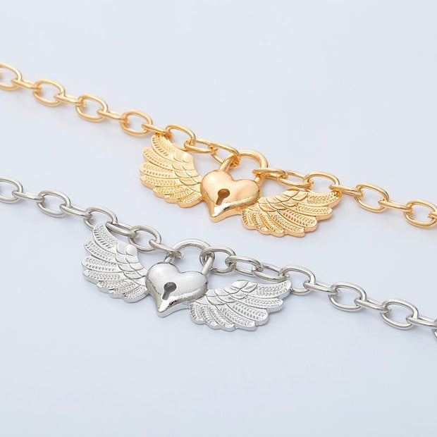 Angel Wings Lock Necklace - Own Saviour - Free worldwide shipping