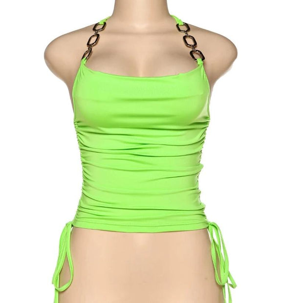 Neon Chain Halter Crop - Own Saviour - Free worldwide shipping